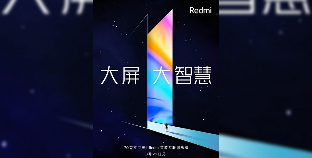 Redmi Note 8 series and 70-inch Redmi 4K smart TV to launch on August 29th