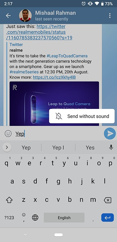 Xda-Developers | Telegram 5 10 brings silent messages, slow mode in