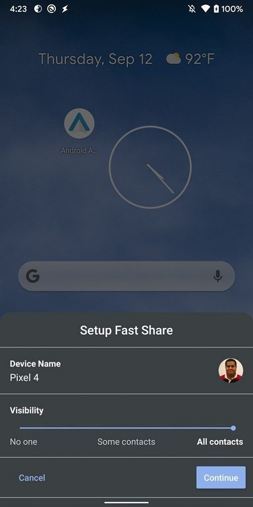 Android Fast Share file transfer