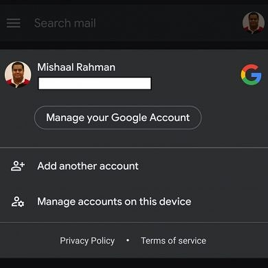 Google finally starts rolling out dark mode in the Gmail app on Android 10