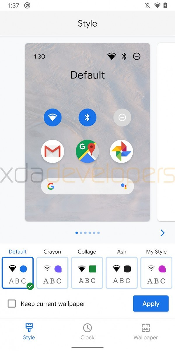 This Is Likely The Google Pixel Themes App For Customizing