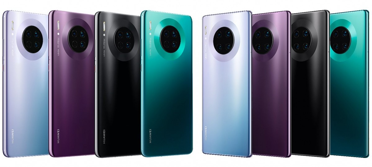 Huawei Mate 30 and Huawei Mate 30 Pro color models