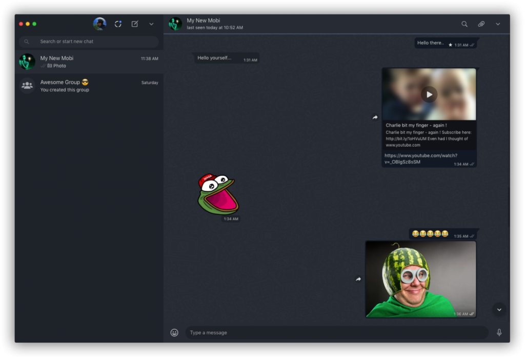 WhatsApp pentru Windows și macOS Dark Mode