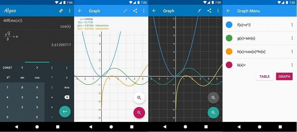 Algeo Graphing Calculator is a scientific calculator for more complex engineering and math problems