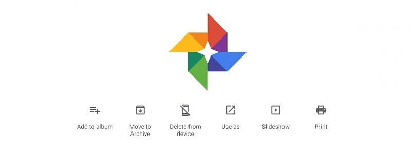 Google Photos 4.24 tests combining the overflow menu with the EXIF panel