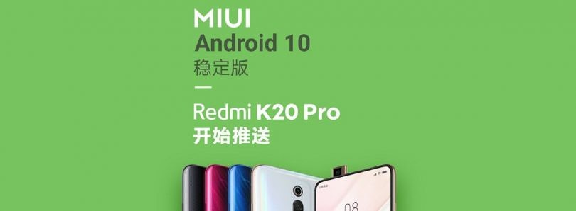 Xiaomi releases stable Android 10 for the Redmi K20 Pro on the same day as Google