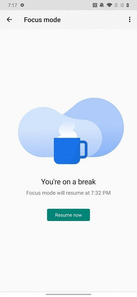 Digital Wellbeing Focus Mode break