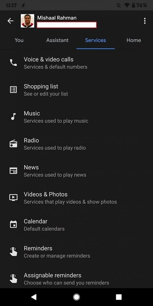 Link Radio Service in Assistant