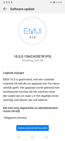 EMUI 10 based on Android 10 on the Huawei Mate 20 Pro