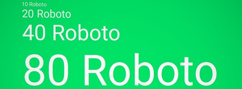The fall and rise of Roboto, Android's default font