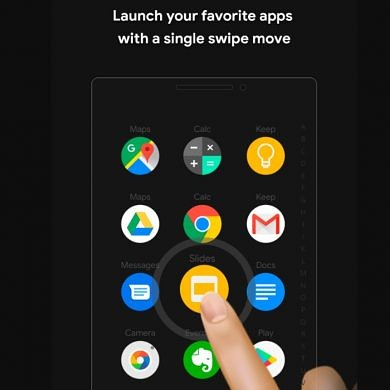 Zone Launcher lets you access your apps from any screen with one swipe