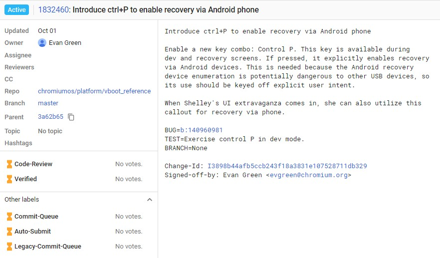 Chromebook recovery Android phone