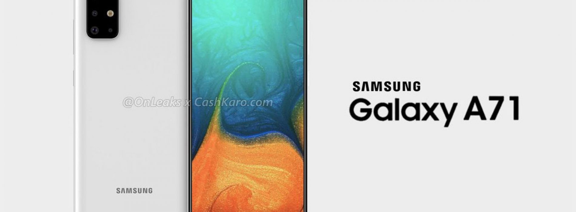 Leaked Galaxy A71 Renders Reveal Punch Hole Display Quad Camera Setup