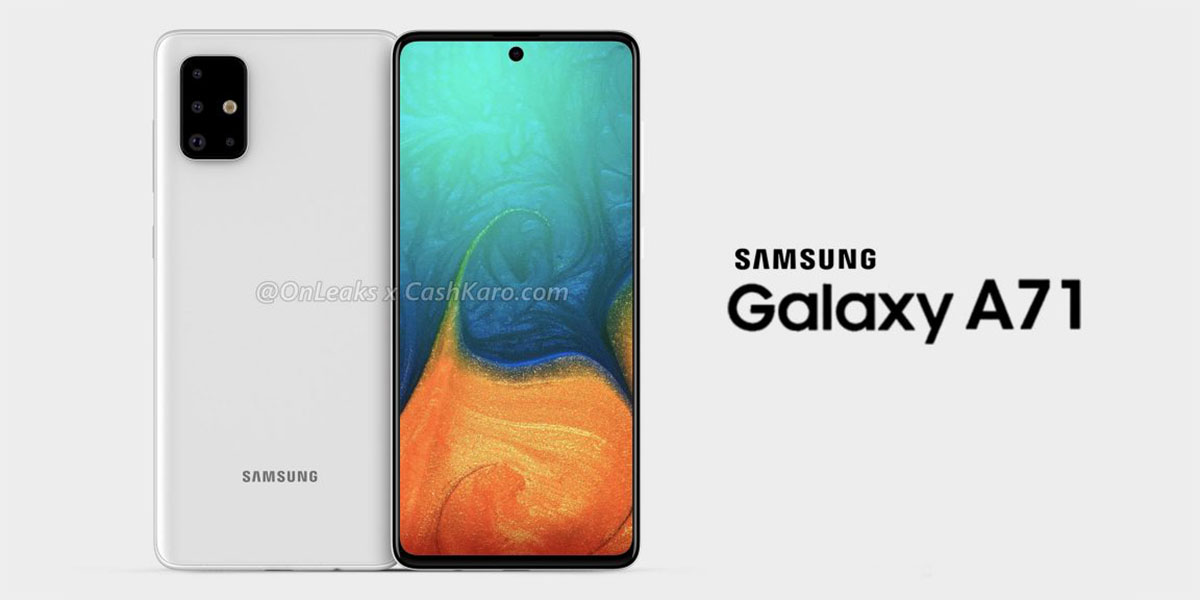 Leaked Galaxy A71 renders reveal punch-hole display, quad-camera setup
