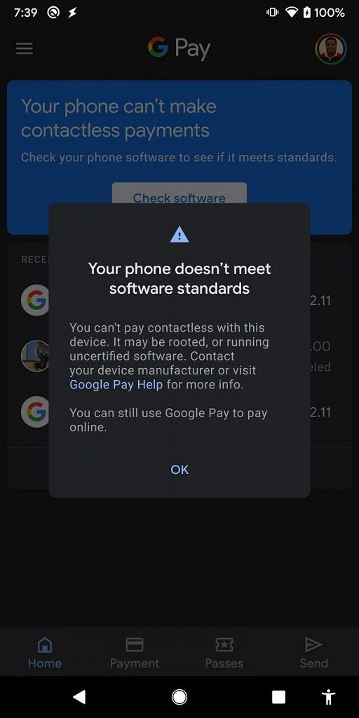 Google Pay SafetyNet checker