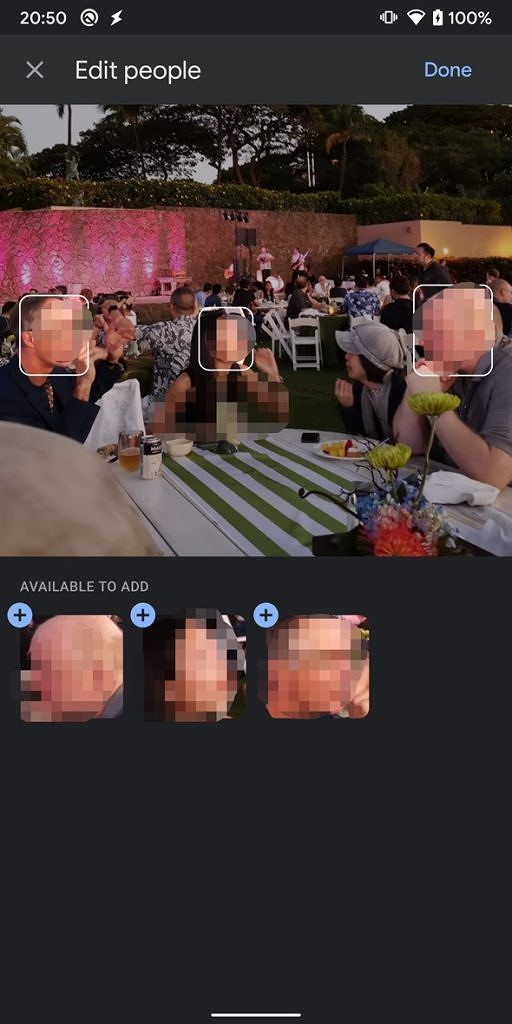 Google Photos Manual face tagging