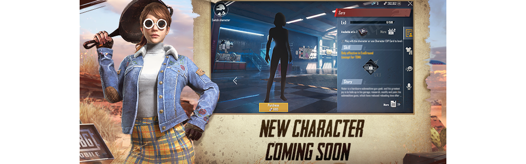 PUBG Mobile update new character