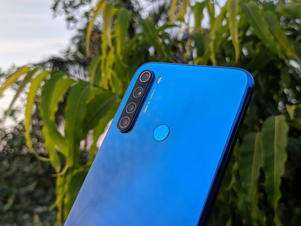 Redmi Note 8 rear in Neptune Blue
