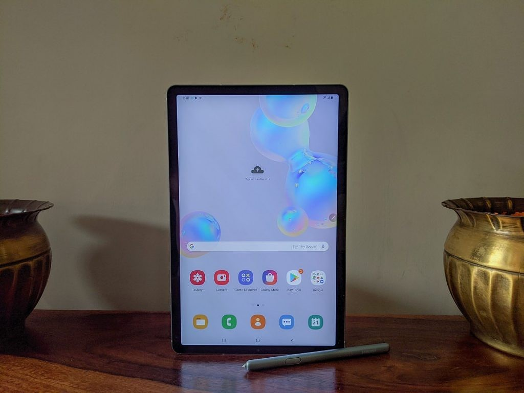 Samsung Galaxy Tab S6 side display