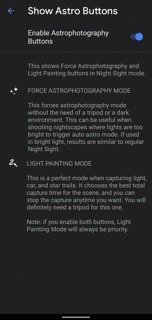 Google Camera mod brings manual Astrophotography mode to Pixels for Light Painting shots