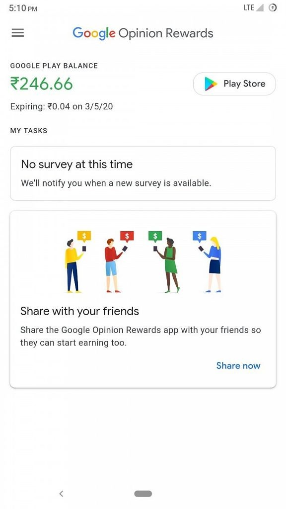 Update Rolling Out Google Opinion Rewards Will Start