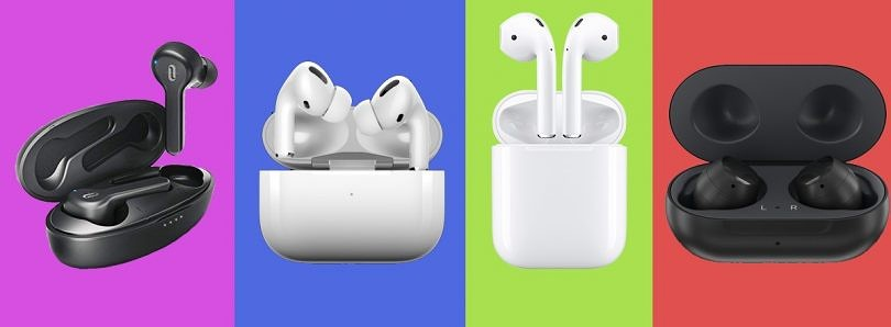 Truly Wireless Earphones Comparison – TaoTronics SoundLiberty 53, Samsung Galaxy Buds, Apple AirPods and Airpods Pro