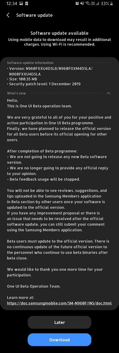 [Update 2: US Models] Samsung Galaxy Note 9 receives stable Android 10 with One UI 2.0