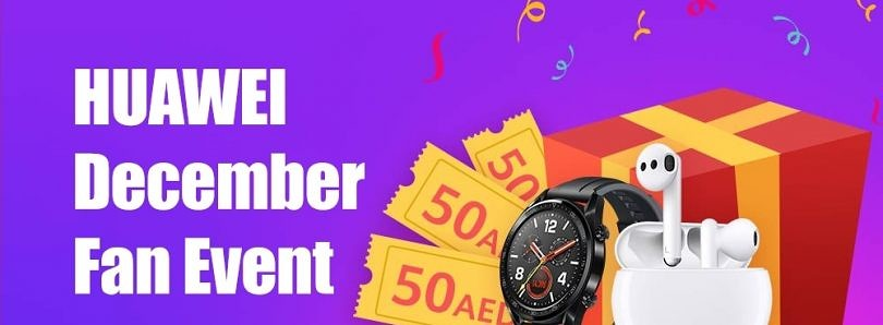 Huawei December Fan Event: Win a Huawei Watch GT 2, Freebuds 3, and Other Prizes