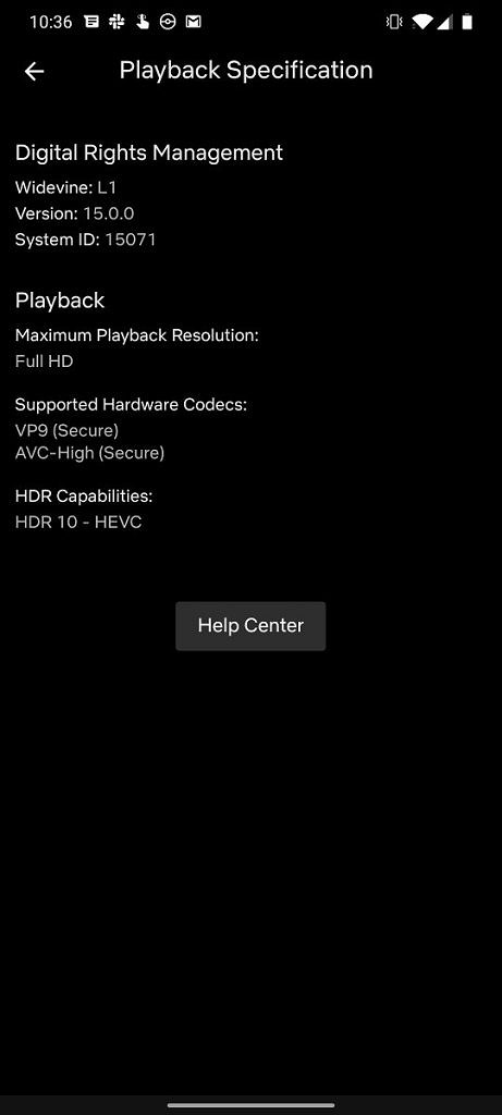 Playback Specifications
