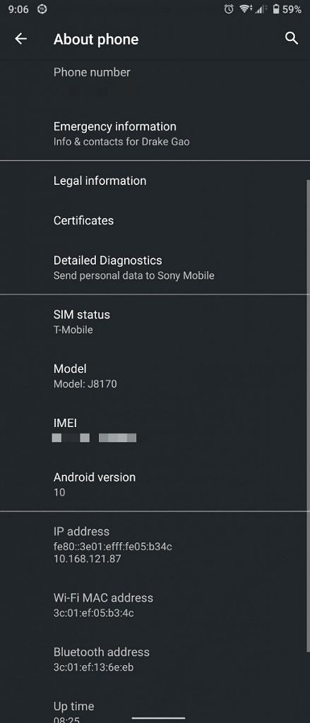 Xperia 1 update Android 10