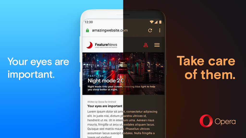 Opera for Android v55 brings Dark Theme for the web, quick tab switching, and more