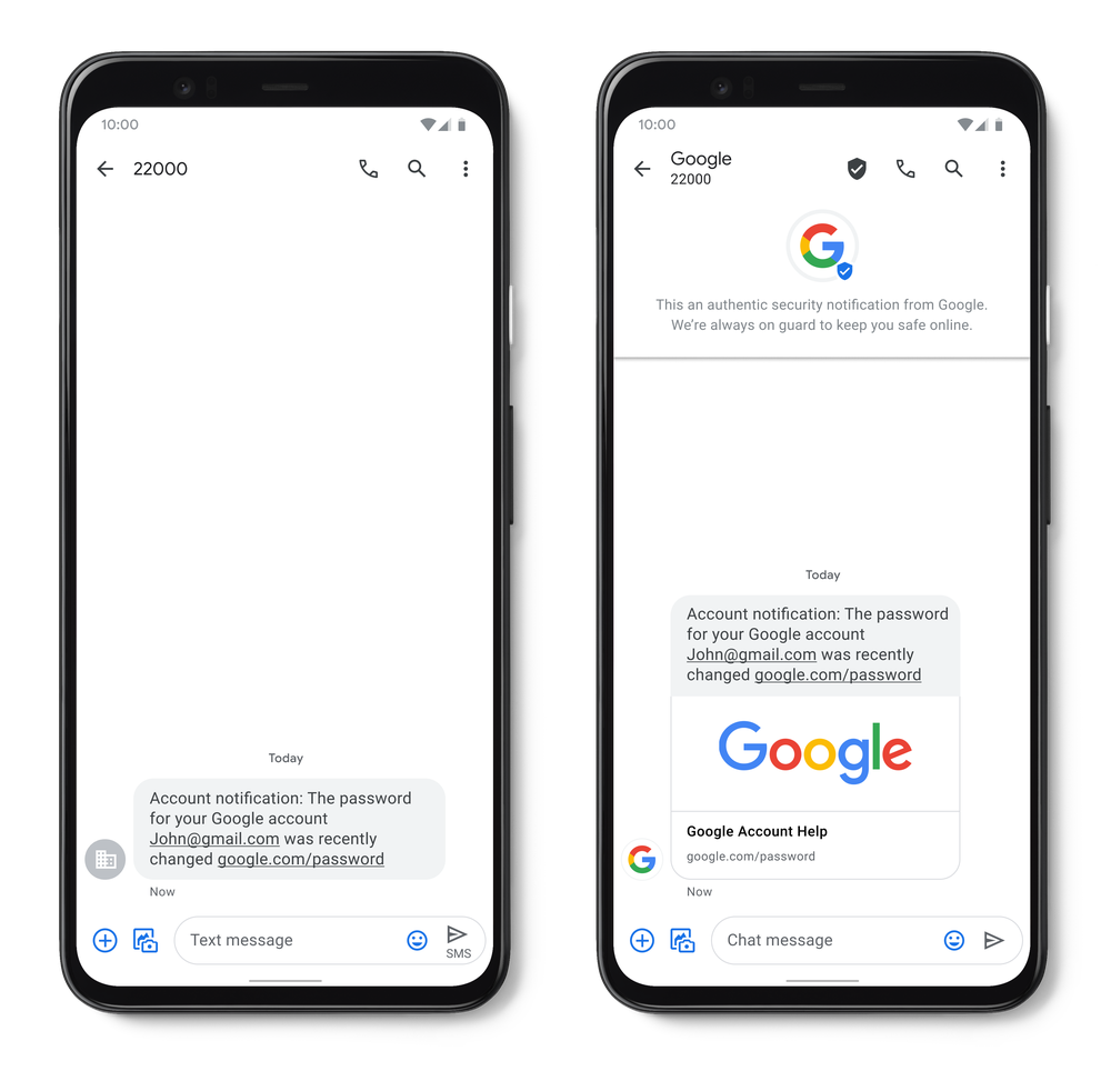 Google announces Verified SMS and real-time spam detection for Android users