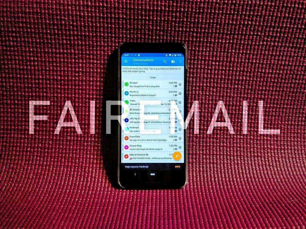 FairEmail is an email app for truly privacy-conscious Android users