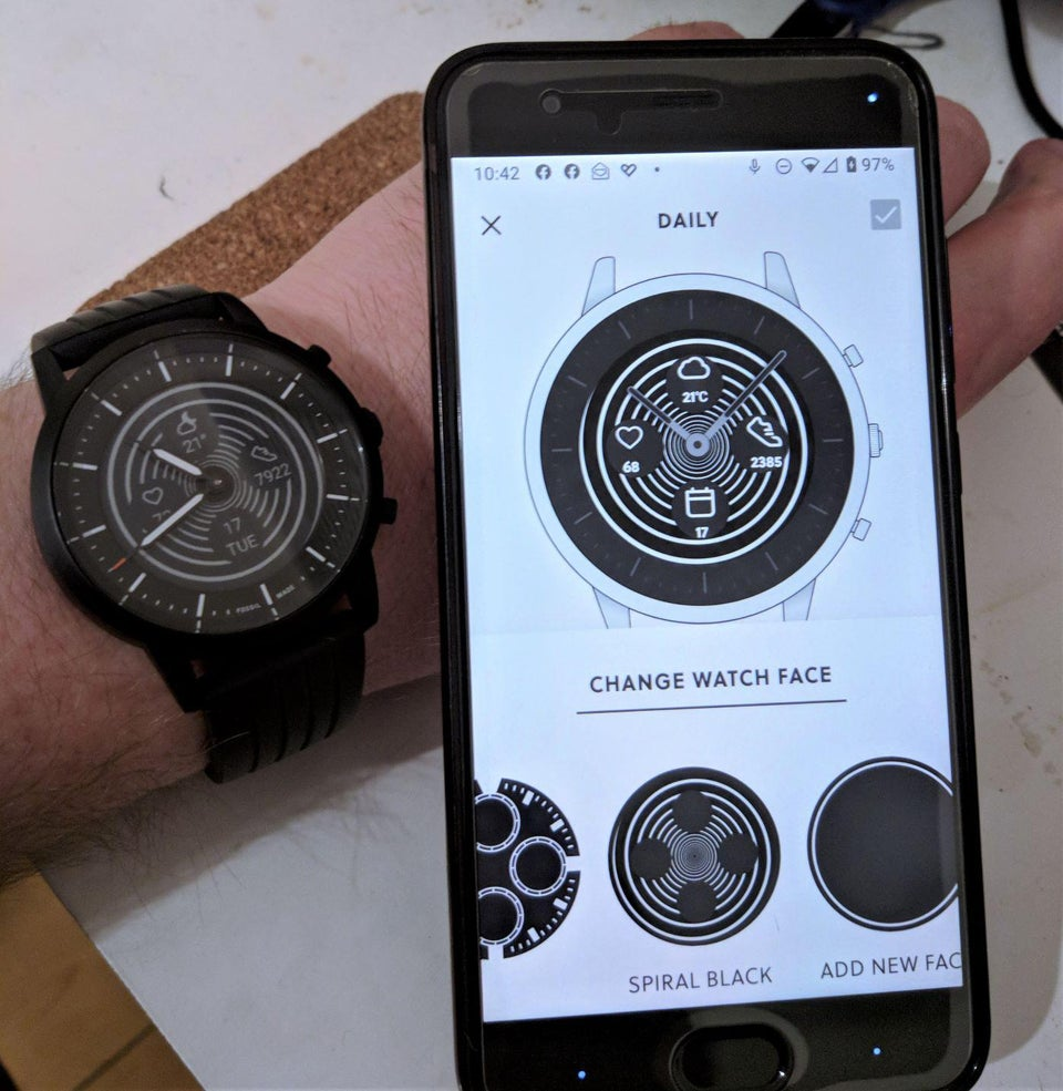 Modded Fossil Hybrid Smartwatches app