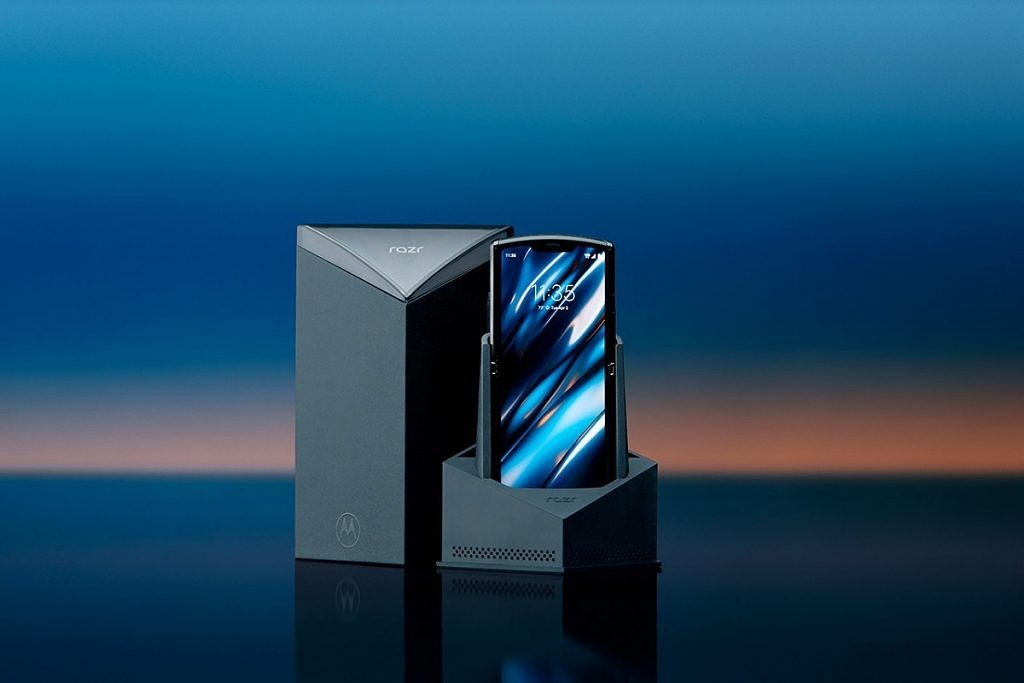 An official product shot of the Motorola Razr.