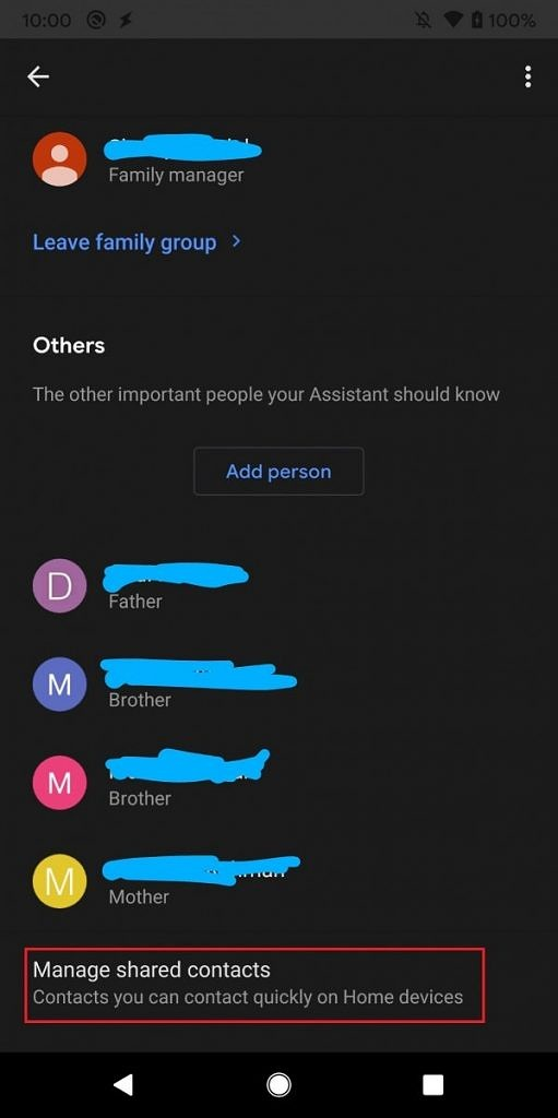 Household contacts