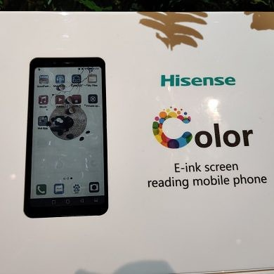 HiSense made a color e-ink screen for smartphones that's better suited elsewhere