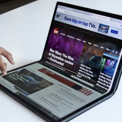 Intel's Horseshoe Bend PC is a foldable laptop with a massive 17.3″ screen