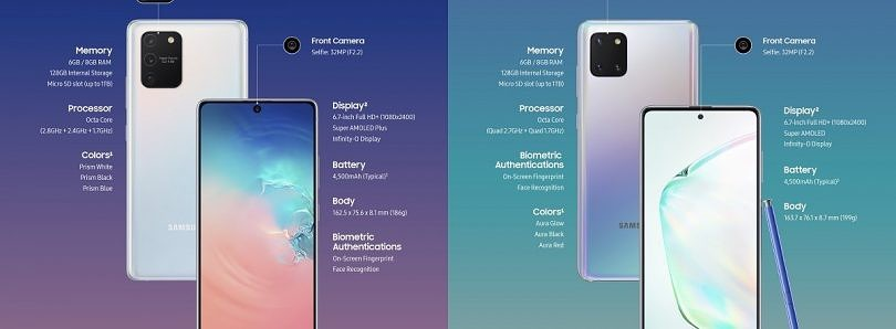 Samsung officially announces the Galaxy S10 Lite and Galaxy Note 10 Lite