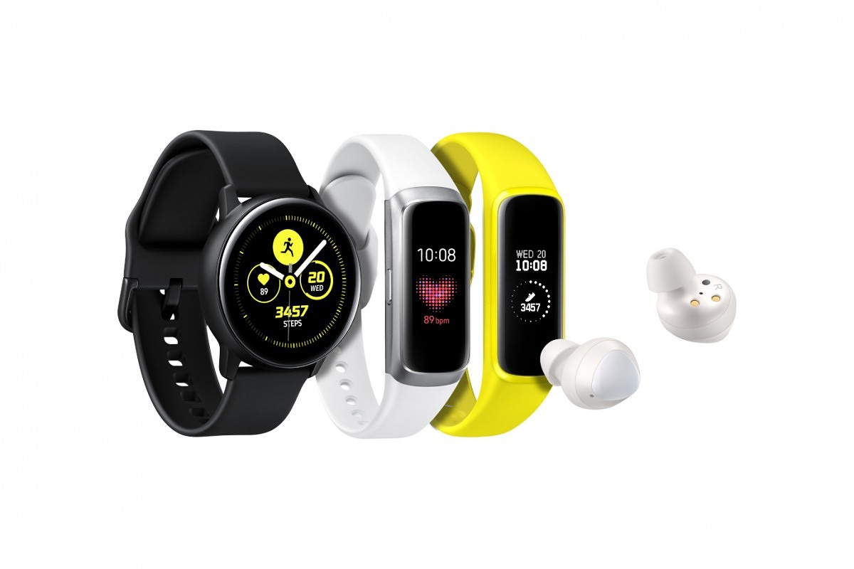 7314a1ab9 Samsung launches the Galaxy Watch Active smartwatch, Galaxy Buds earbuds,  and Galaxy Fit smart band