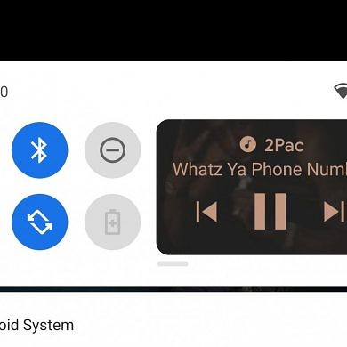Wild Android 11 test puts a music player in the Quick Settings panel