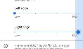 Android 11 adds individual left/right sensitivity options for gesture navigation