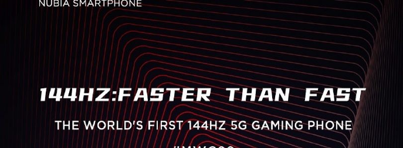 Nubia will launch the Red Magic 5G with a 144Hz display and 80W charging at MWC 2020