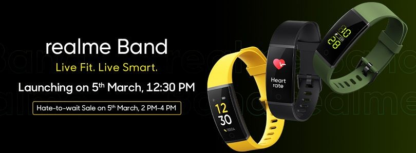 Realme Band with color display, IP68 rating, Cricket mode launching in India on March 5