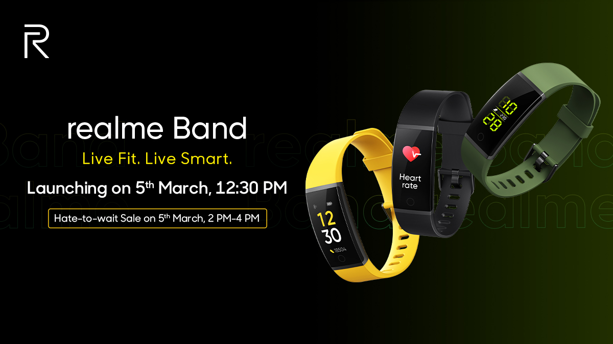 Realme Band with color display and IP86 launching in India on March 5