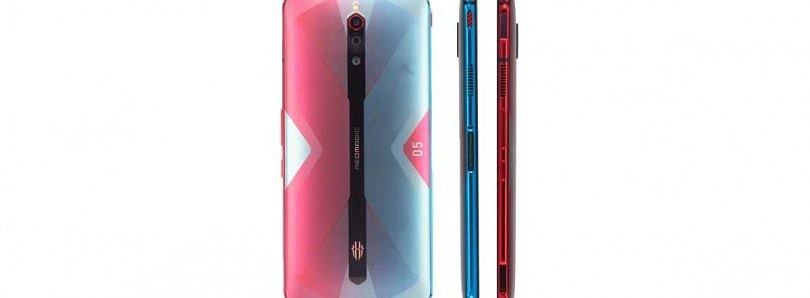 Nubia's Red Magic 5G phone has a funky red & blue multi-colored design
