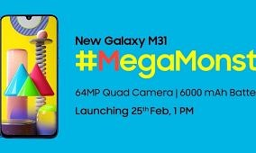[Update: Launching on 25th Feb] Samsung teases the Galaxy M31 with a 64MP camera