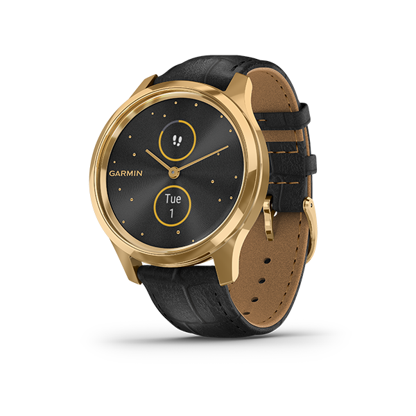 Garmin Vivomove Luxe with Leather Band