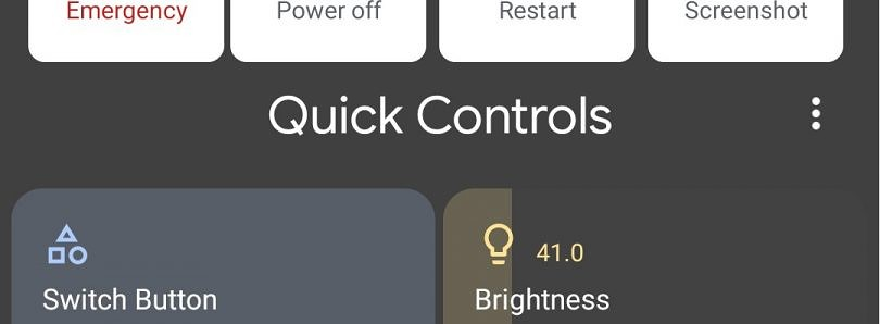 "[Update: Video + Documentation] Android 11 DP2 reveals work on ""Quick Control"" shortcuts in the Power Menu"