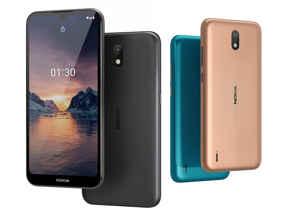 Nokia 1.3 in multiple colors